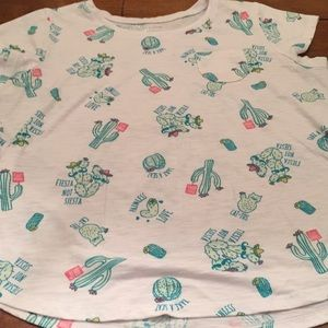 This is a t-shirt with cactus